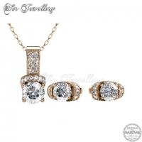 Eve Set (Rose Gold) Embellished with Crystal from Swarovski