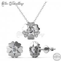 Heart Petal Set Embellished with Crystal from Swarovski