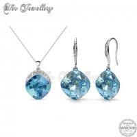 Tiffy Set (Blue) Embellished with Crystal from Swarovski