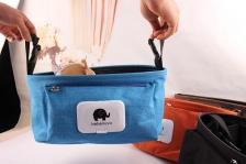 Baby Stroller Organizer Hanging Bag Big Capacity (Blue)