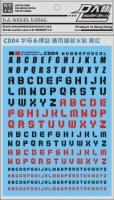 [Water Decal][Da Lin] Alphabet (BLACK/RED) (C004BR)