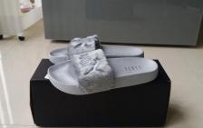 """Puma Fenty by Rihanna 'Leadcat Fenty' Faux Fur Slide """"Grey"""""""