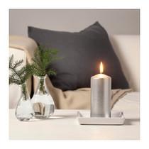 Big Candle silver color 15cm