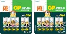 GP BATTERIES MINIONS EDITION GREENCELL (EXTRA HEAVY DUTY) 4PCS FREE 2PCS AA (2 CARDS)