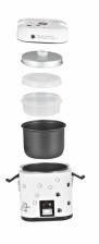 Portable / Travel Rice Cooker (1.2L) Black: Keep Freshness Food Convenient