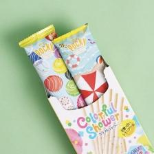 (2 box) Japan Glico Pocky Green Apple + Sunny Lemon Shower Colorful Snack 60g