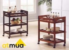 Atmua Advo Full Rubber Wood Trolley - Furniture