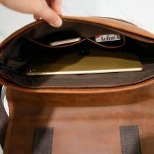 Sling bag Messenger Bag (Soft Leather) Brown