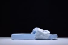 "Puma Fenty by Rihanna 'Leadcat Fenty' Faux Fur Slide ""Cool Blue"""