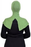 Anak Tudung Ninja Belah Belakang Cotton Japan Green Leaf