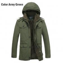 Plus Size Men Hooded Multi Pockets Winter Autumn Jacket Coat Size M to 6XL