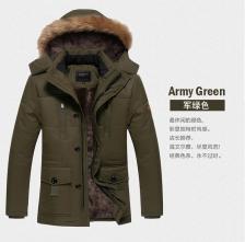 Plus Size Men Hooded Winter Autumn Jacket Coat Size M to 5XL