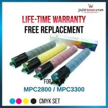 Compatible MPC2800 / 3300 CMYK Set Toner Cartridge For Ricoh