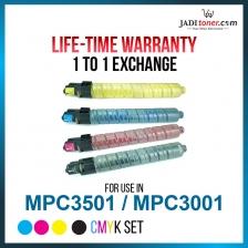 Compatible MPC3001 / 3501 CMYK Set Toner Cartridge For Ricoh