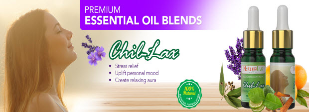 FREE aroma diffuser : Stress Relief Premium Blended Essential Oil (Chil-Lax) 10ml