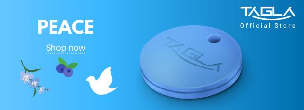 TAG La V2 Bluetooth Tracker Key Finder Item Finder Anti lost alarm device for Security-Key Locator, Wallet Tracker, Phone Finder, Selfie Remote (BLUE)